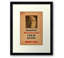 Trump Makings 2.  Framed Print