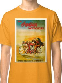 """""""INDIAN"""" Vintage Motorcycle Advertising Print Classic T-Shirt"""