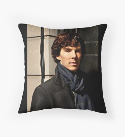 Sherlock at 221B Throw Pillow