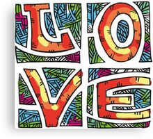 Love Alphabet Canvas Print