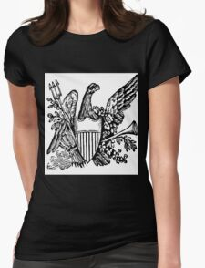 Trident and Horn Eagle  Womens Fitted T-Shirt