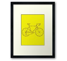 Bike in Words Framed Print