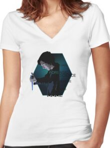 I Liked Forensic Science before it was Cool V2 Women's Fitted V-Neck T-Shirt