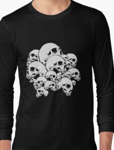 Skull Collage Long Sleeve T-Shirt