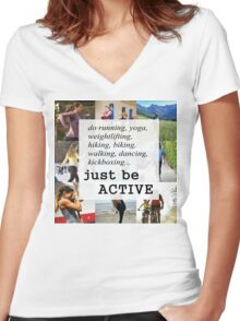 Be Active Women's Fitted V-Neck T-Shirt