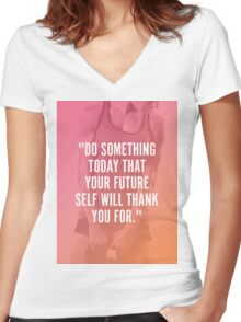 Do Something Today Women's Fitted V-Neck T-Shirt