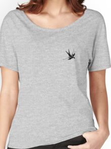 Sailor Jerry Swallow / Black & White Women's Relaxed Fit T-Shirt
