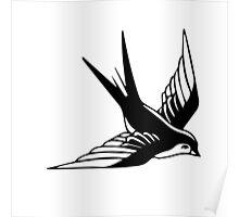 Sailor Jerry Swallow / Black & White Poster