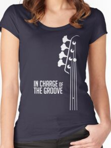 Bass Player - In Charge of the Groove - Bass Guitarist - Bassist Women's Fitted Scoop T-Shirt