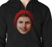 Michael Cera's Face in a Beanie Zipped Hoodie