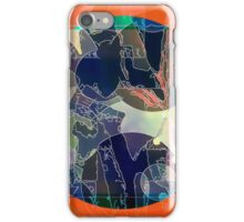 Abstraction on Orange: Maps & Apps Series iPhone Case/Skin
