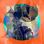 Abstraction on Orange: Maps & Apps Series by Dana Roper