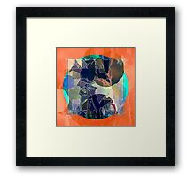 Abstraction on Orange: Maps & Apps Series Framed Print