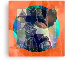 Abstraction on Orange: Maps & Apps Series Canvas Print