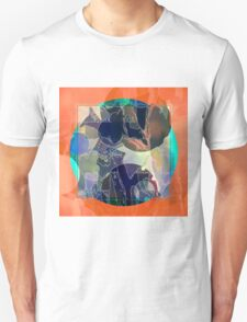 Abstraction on Orange: Maps & Apps Series Unisex T-Shirt