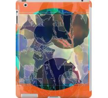 Abstraction on Orange: Maps & Apps Series iPad Case/Skin