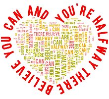 Believe You Can Motivational Design Photographic Print