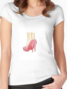 Heelariously happy Women's Fitted Scoop T-Shirt
