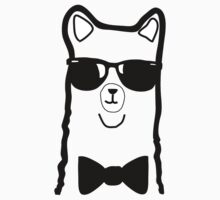 Hipster Alpaca – Face Close Up - Cute Kids Cartoon Character by designedbyn