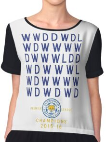 Leicester City FC Champions PL Results 2015-2016 Chiffon Top