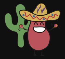 Little Mexican Jumping Bean - Cute Kids Cartoon Character One Piece - Short Sleeve