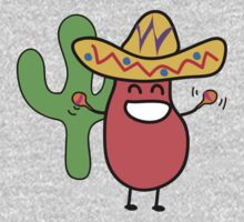 Little Mexican Jumping Bean - Cute Kids Cartoon Character Kids Tee