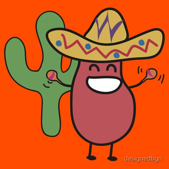 Little Mexican Jumping Bean - Cute Kids Cartoon CharacterMexican Cartoon Character