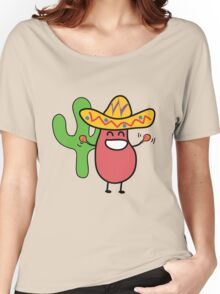 Little Mexican Jumping Bean - Cute Kids Cartoon Character Women's Relaxed Fit T-Shirt