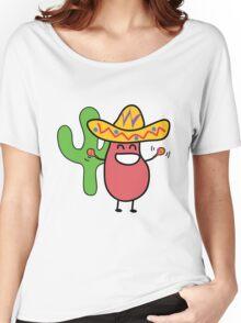Little Mexican Jumping Bean - Cute Kids Cartoon Character Women's Relaxed Fit T-Shirt