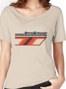 Land Cruiser body art series, orange T. Women's Relaxed Fit T-Shirt
