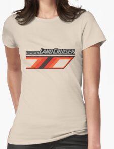 Land Cruiser body art series, orange T. Womens Fitted T-Shirt