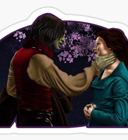 Rumpelstiltskin and Belle Sticker