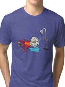 Meteor Shower - Cute Kids Cartoon Character Tri-blend T-Shirt