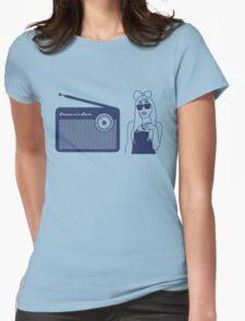 Radio Gaga - Lady Gaga & Queen Freddie Mercury Parody Womens Fitted T-Shirt