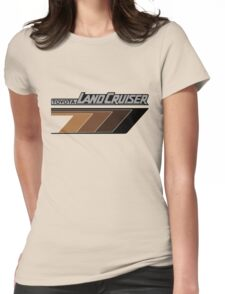 Land Cruiser body art series, brown arrows.  Womens Fitted T-Shirt