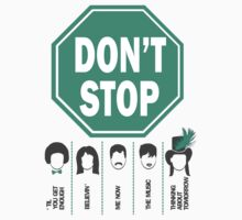 Don't Stop... Music Poster - Michael Jackson, Queen, Rihanna, Journey, Fleetwood Mac by designedbyn