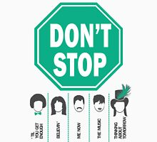 Don't Stop... Music Poster - Michael Jackson, Queen, Rihanna, Journey, Fleetwood Mac Unisex T-Shirt