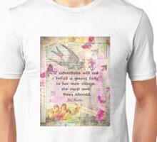 Jane Austen whimsical travel quote Unisex T-Shirt