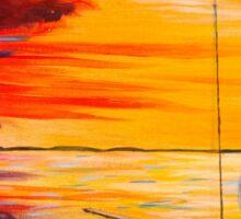 Sunset Sailboat Sticker