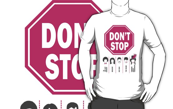Don't Stop... (Pink Color) - Music Poster - Michael Jackson - Queen - Rihanna - Journey - Fleetwood Mac by designedbyn