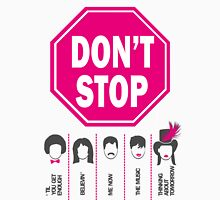 Don't Stop... (Pink Color) - Music Poster - Michael Jackson - Queen - Rihanna - Journey - Fleetwood Mac Unisex T-Shirt