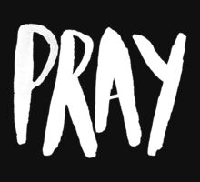 Pray Typography II Kids Tee