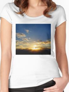 Stunning Sunset Women's Fitted Scoop T-Shirt