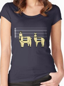 Difference Between Alpacas and Llamas Explained Women's Fitted Scoop T-Shirt