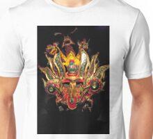 Emerald Eyed Dragon Head Mask Unisex T-Shirt