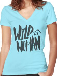 Wild Woman Women's Fitted V-Neck T-Shirt