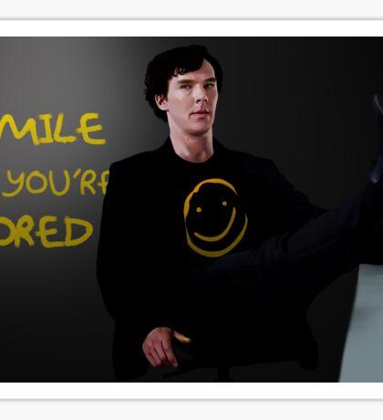 Smile if You're Bored Sherlock Sticker