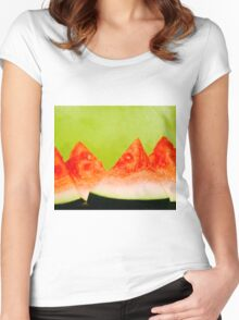 Watermelon Slices Women's Fitted Scoop T-Shirt