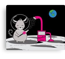 Chinchilla Moon Dust Bath - Kids Cute Cartoon Character Canvas Print
