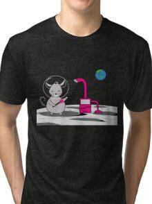 Chinchilla Moon Dust Bath - Kids Cute Cartoon Character Tri-blend T-Shirt